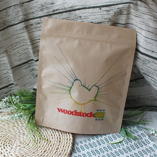Matte Finish Brown Kraft Woodstock Stand Up Pouch